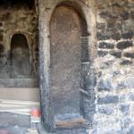 Sarcophages lors de la restauration du presbytère.