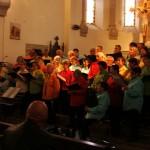La chorale terre de Peyre à l'église de Javols