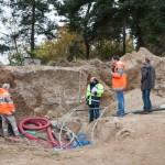 Réunion de chantier au résevoir d'eau
