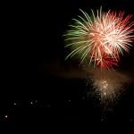 Feu d'artifice le 15 août à Javols.