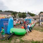 Baby-foot humain le 15 août à Javols.