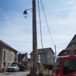 Enterrement du réseau d'électricité.