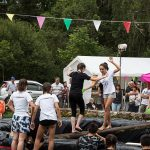 Fête du 15 août : jeux d'eau.