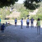 Fête du 15 août : Concours de pétanque sur le site archéologique.