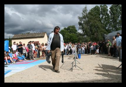 Bernard Bruel lors de la fête du 15 août à Javols.