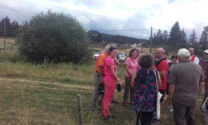 Carole Delga et Aurélie Maillols en visite à Javols.