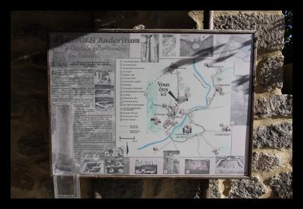 Plan du parcours de découverte d'Anderitum.