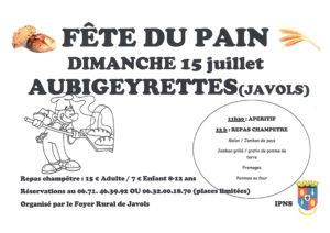 Affiche fête du pain Aubigeyrettes