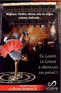 Affiche pour le portail culture.lozere.fr