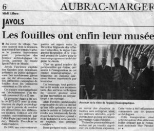 Article Midi Libre 1998