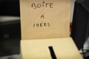 Boîte à idées à la Mairie.