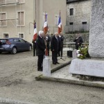 Cérmonie du 11 novembre à Javols.