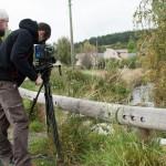 Tournage d'un documentaire sur le site archéologique