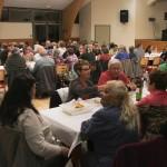 Repas dans la salle des fêtes, 15 août à Javols