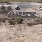 Construction des garages communaux à Javols en Lozère, terre de Peyre.