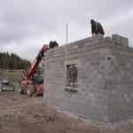 Construction des garages communaux à Javols en Lozére.