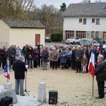 Cérémonie du souvenir : M. Biron , Président de l'association des anciens combattants.