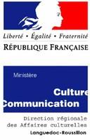 Logo de la DRAC Languedoc-Roussillon.