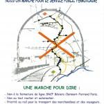 Affiche marche SNCF