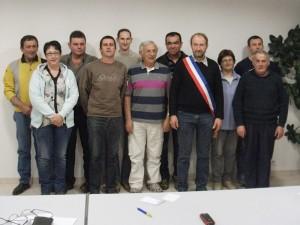 Le nouveau Conseil Municipal élu à Javols en Lozère, Terre de Peyre.