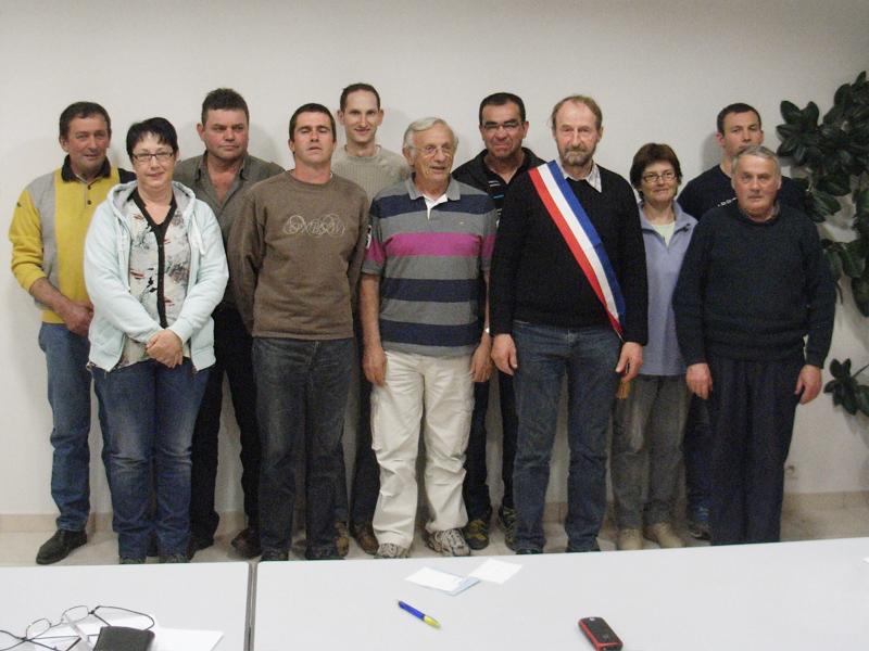 Le Conseil Municipal élu à Javols en Lozère, Terre de Peyre.