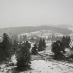Premières neiges à Javols