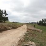 Travaux sur le chemin entre la Bessière et la route de Serverette.