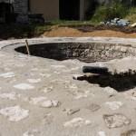 Mise en valeur du bassin des thermes.