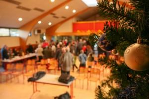 Javolais réunis à la salle des fêtes, cérémonie des voeux 2014 à Javols