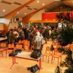 Foule à la salle des fêtes, cérémonie des voeux 2014 à Javols