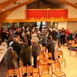 Partage de la galette, cérémonie des voeux 2014 à Javols